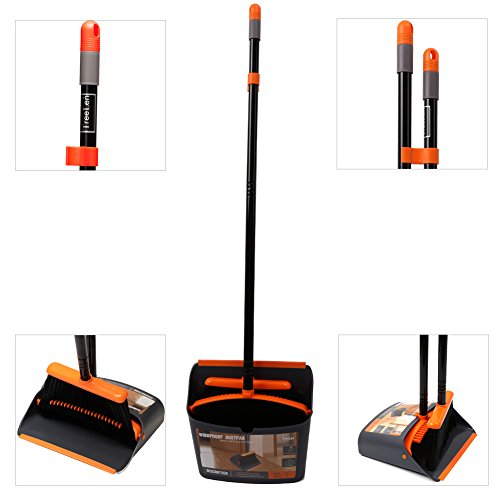 Treelen Dust Pan And Broom Dustpan Cleans Broom Combo With
