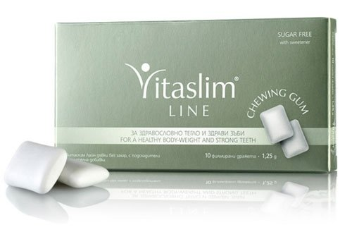 (Vitaslim LINE Chewing-gum Appetite Control (Sugar-free) Slimming Supplement with Guarana & Green Tea Extracts - (10 Pieces))