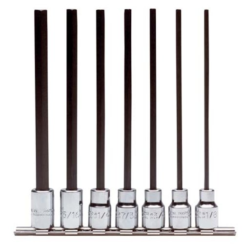 Stanley Proto J4990-7XL 3/8-Inch Drive Extra Long Hex Bit Set, 7-Piece
