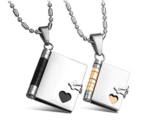 Matching Necklaces Pendants Stainless Writable