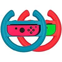 GAMEFAN Steering Wheel for Nintendo Switch, [2 Pack] Switch Steering Wheel Controller Handle for Switch Joy-con Mario…