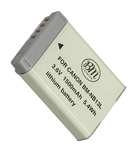 BM Premium NB-13L Battery for Canon PowerShot SX740 HS, G1 X Mark III, G5 X, G5 X Mark II, G7 X, G7 X Mark II, G7 X Mark III, G9 X, G9 X Mark II, SX620 HS, SX720 HS Digital Cameras