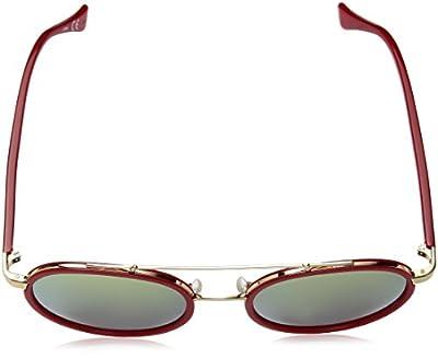 Calvin Klein Unisex Ck1225s Round Sunglasses, Strawberry, 55 mm