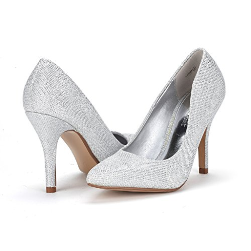 Womens silver Toe DREAM Elegant High Tayler PAIRS Tayler Close Heels Stiletto Shoes Glt Pointy Pumps EEpwRqAOx