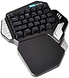 Skywin Programmable Gaming Keypad - Ergonomic One Handed RGB Backlit Mechanical E-Sports Keyboard - Customizable Macros Compatible with Fortnite PUBG and More