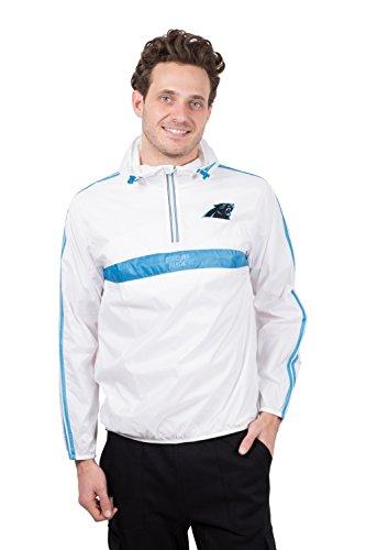 - ICER Brands Women's Quarter Zip Pullover Hoodie Windbreaker Jacket Packable, White, Large