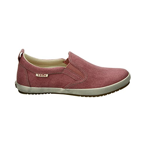 Taos Footwear Women's Dandy Slip On Sneaker,Rose Washed Canvas,US 9.5 M