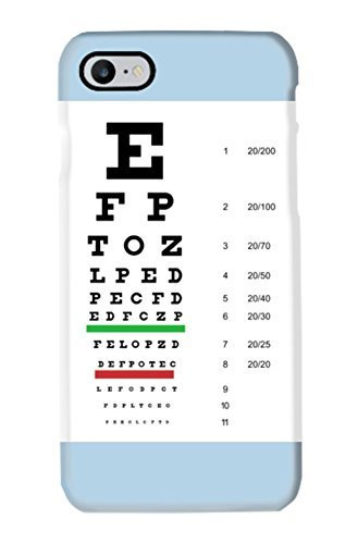 Snellen Pocket Eye Chart - Cell Phone Case | For Samsung Galaxy S5, S6, S6 Edge, S6 Edge Plus, S7, S7 Edge, S8, S8 Plus | Free Shipping | Available in White, Black, Blue, Green, Red, Pink, Gold