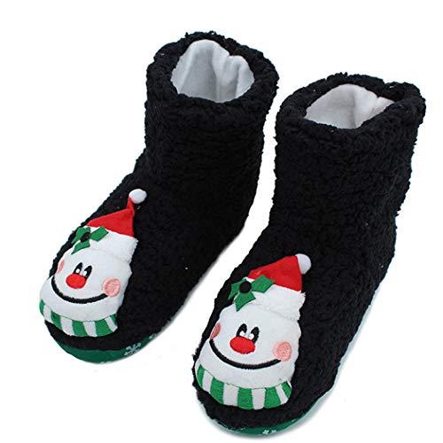 Chauds Noël Indoor Bas Nouvel Des Pantoufles Chaussures Chaussettes En Noir Doux Hiver De Femmes Peluche Coton qw6IHp