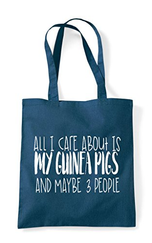 All About Pig I Funny Three And Shopper People Is Maybe Guinea Care Bag Cute Animal Petrol Themed Tote My rqr4p