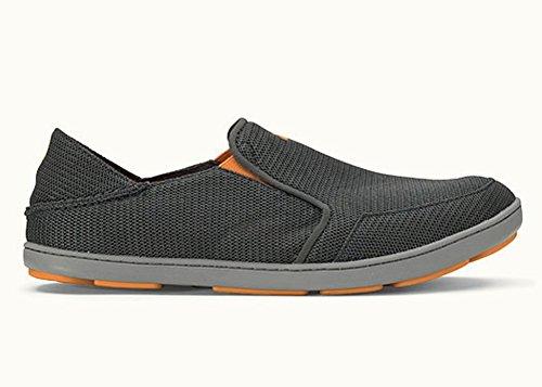 OLUKAI Men's Nohea Mesh Slip-On Shoes, Dark Shadow/Dark Shadow, 10 M US -