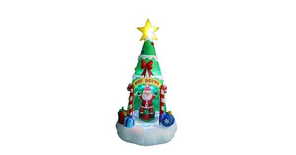 Amazon.com: Árbol de Navidad hinchable con luces LED de ...
