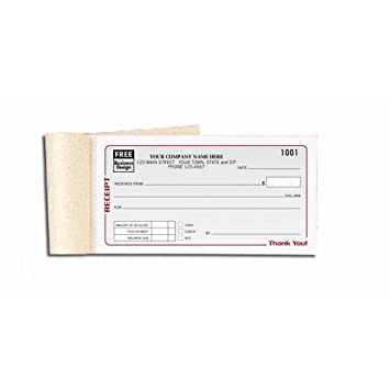 amazon com personalized receipt books office products