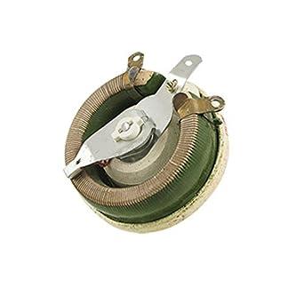 eDealMax bandeja de cerámica Rotary resistencia Ajustable reostatos, 200 Ohm, 150W