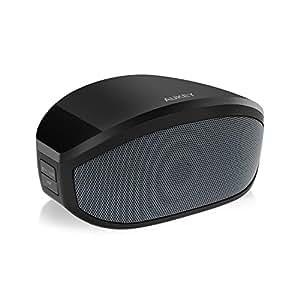 Aukey BT013 - Altavoz portátil con conexión inalámbrica de 3W para smartphones, tabletas, ordenadores portátiles, con micrófono, color negro