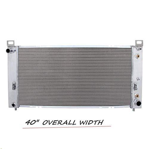 "Primecooling 3 Row Core Aluminum Radiator for GMC Chevrolet Sierra Yukon 1500/2500 Silverado Suburban V8 (40"" Overall Wide)"