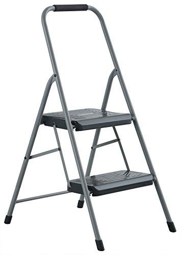 Black & Decker BXL4360-02 Two Step 200 lb Capacity Steel Stool, Gray