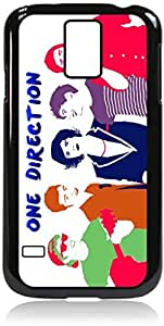 1D Silhouettes- Hard Black Plastic Snap - On Case with Soft Black Rubber LiningGalaxy s5 i9600 - Great Quality!