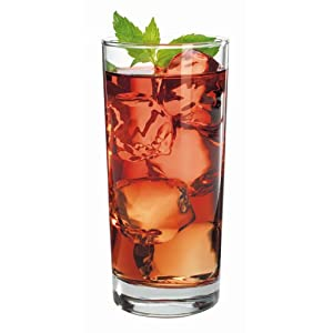 Anchor Hocking Heavy Base Highball Drinking Glasses, 15 oz (Set of 12)