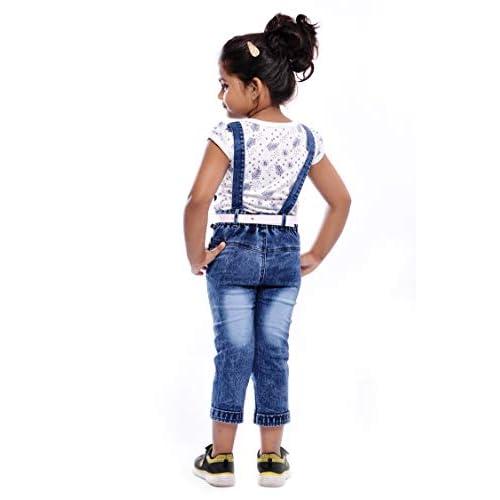 411 1PEQzWL. SS500  - Aayat Fashion Girls Slim Fit 3/4 Pant Beautiful Embroidery Dungaree