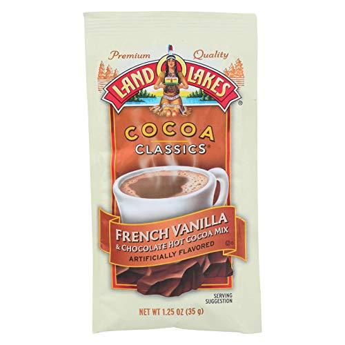 Land O Lakes Cocoa Classics French Vanilla & Chocolate Hot Cocoa Mix 1.25 OZ (Pack of 24) (Vanilla Hot Chocolate)