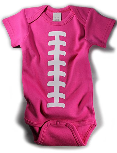 Baby Football One Piece Bodysuit Outfit Hot Pink (3-6 (Baby Costume Football Player)