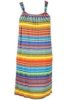 Spense Petites Multi-Color Striped Stretch Knit Halter Dress PXS