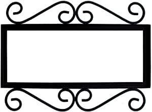 Wrought iron house number frame villa 5 home for House number frames