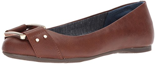 Dr. Scholl's Women's Glowing Ballet Flat, Whiskey Smooth, 11 Wide US
