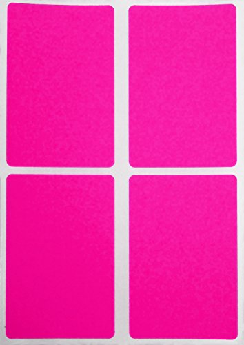 (Royal Green Neon Pink Coding Labels 3x2 - Rectangular Sticker Label 7.5cm x 5cm - 60 Pack)