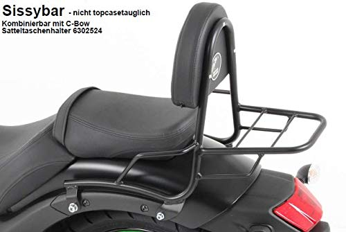 schwarz f/ür Kawasaki Vulcan S Hepco/&Becker Sissybar ohne Gep/äckbr/ücke