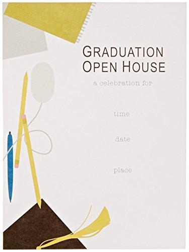 Mara-Mi Pencil and Mouse Graduation Festival Fill-In Invitation, 10-Count (46427)