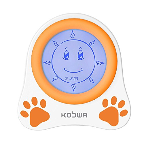 Kobwa Kids Children Sleep Trainer Alarm Clock With Night Light