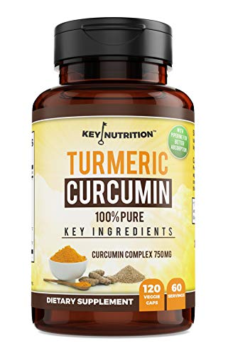 Turmeric Curcumin with Black Pepper Extract and Nettle | 100% Organic Supplement  Pain Relief AntiInflamatory Antioxidant for Arthritis Inflamation High Cholesterol | 120 Capsules 60 Day Supply