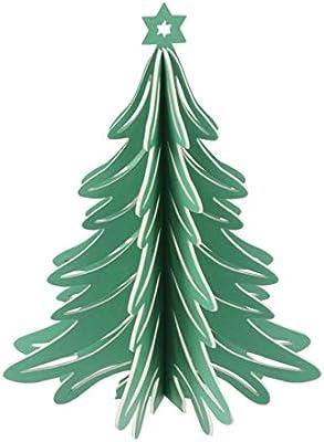 3d Paper Christmas Tree.Toyvian Christmas Tree Table Centerpiece 3d Paper Xmas Tree