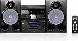 Philips FWM463X/77 Home audio mini system 280W Negro, Azul sistema de audio para el hogar - Microcadena (Home audio mini system, Negro, Azul, 3 discos, Carousel disc loader, 280 W, De 2 vías)