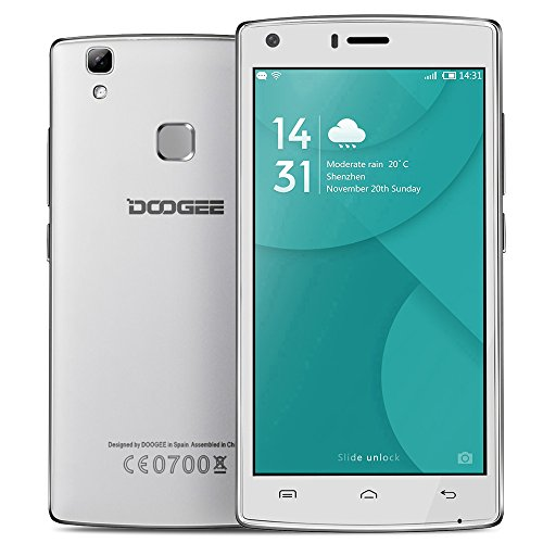 DOOGEE X5 MAX Pro 5,0 Zoll Smartphone 4G Android 6.0 64-Bit IPS-HD 1280 * 720 Pixel Bildschirm 2G RAM + 16G ROM Fingerabdruck entsperren Smart Gesture OTG