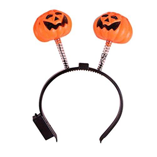 Euone Halloween LED Pumpkin Skull Light Party Props Headbands Dress up Accessories (Spanish Jesus Halloween Costume)