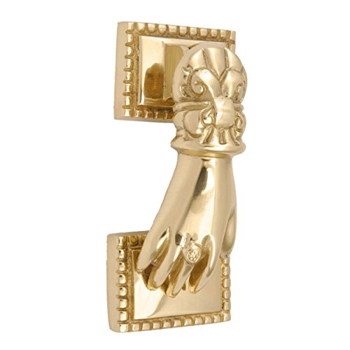 Solid Brass Victorian Door Knocker Ladies Woman Hand 4
