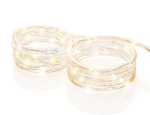 HD Design Mini Rope Light 18 Ft. Total .-.67 Warm Light LED Clear Battery Operated (Batteries Not ()