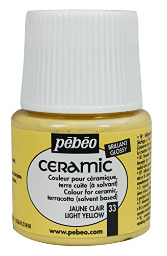 (PEBEO 025-033 Ceramic, Enamel Effect Paint, 45 ml Bottle - Light Yellow)