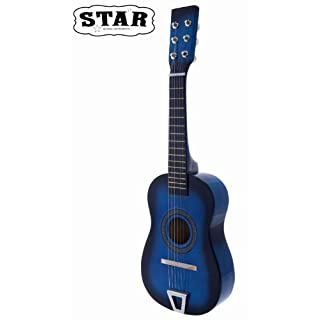 Star MG50-BL Kids Acoustic Toy 6 Strings Guitar 23-Inches, Color Blue