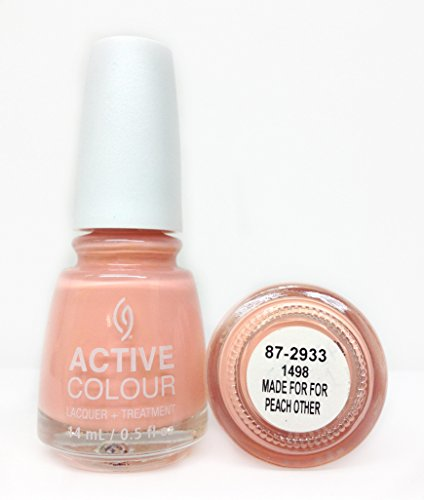 (China Glaze Nail Lacquer, Active Colour Made for Peach Other, 0.5 Ounce)