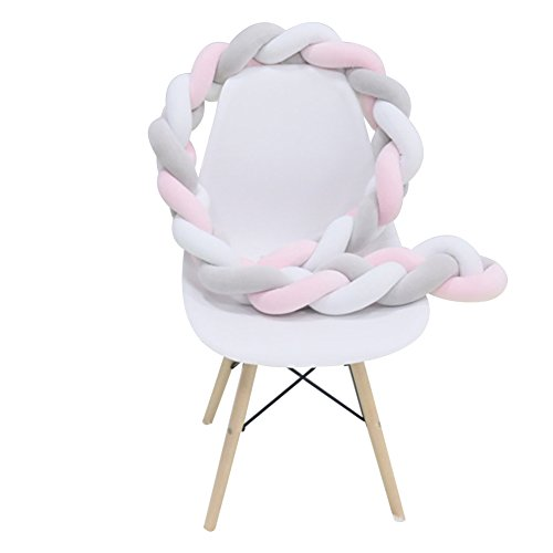 ZeHui Bumper Knotted Braided Plush Nursery Cradle£¬Baby Accessories£¬Newborn Gift by Zehui