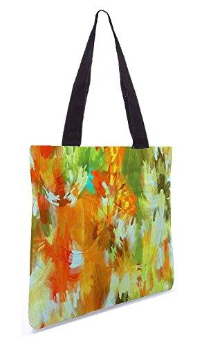 Snoogg Abstract paint 13.5 x 15 Zoll-Shopping-Dienstprogramm-Einkaufstasche aus Polyester-Segeltuch gemacht