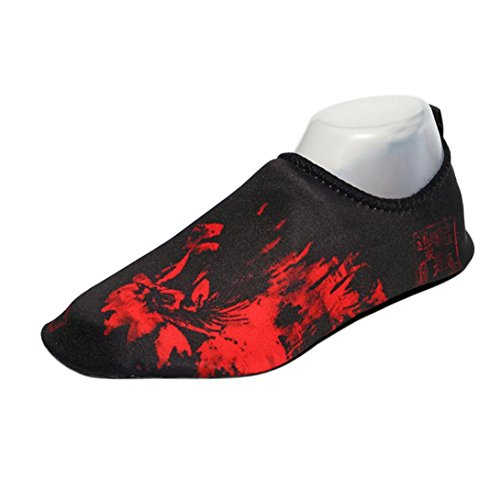 Inkach Water Sport Shoes - Unisex Barefoot Skin Aqua Socks Quick Drying Surf Diving Shoes Red M0TokemixN