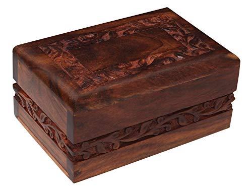 The Bogati Hand Carved Rosewood Urn