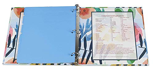 Meadowsweet Kitchens Recipe Binder Organizer Gift Set with Recipe Cards and Plastic Protector Sheets (Watercolors) by Meadowsweet Kitchens (Image #2)