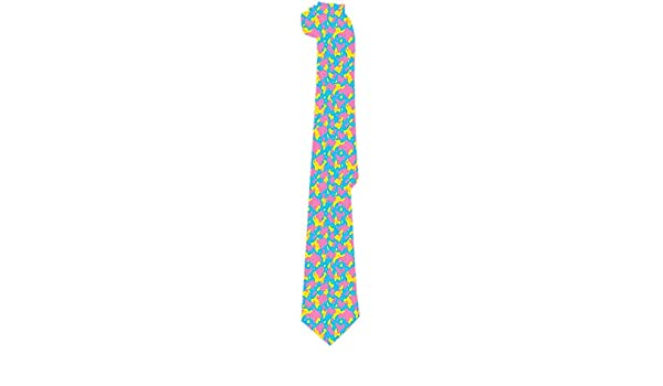 Corbata para hombre Pixel Art Brillante Rosa Amarillo Azul ...
