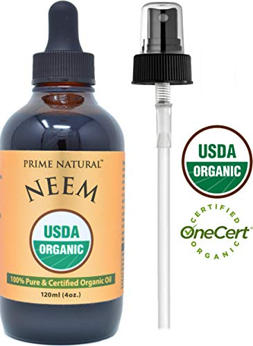 - Organic Neem Oil - 4oz USDA Certified - Cold Pressed, Virgin, Unrefined - 100% Pure Azadirachta Indica - Best for Skin, Face, Hair & Nails - Natural Moisturizer, Insect Repellent, Garden & Pet Care